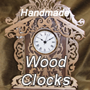 See handmade wood clocks and products at an Etsy store.